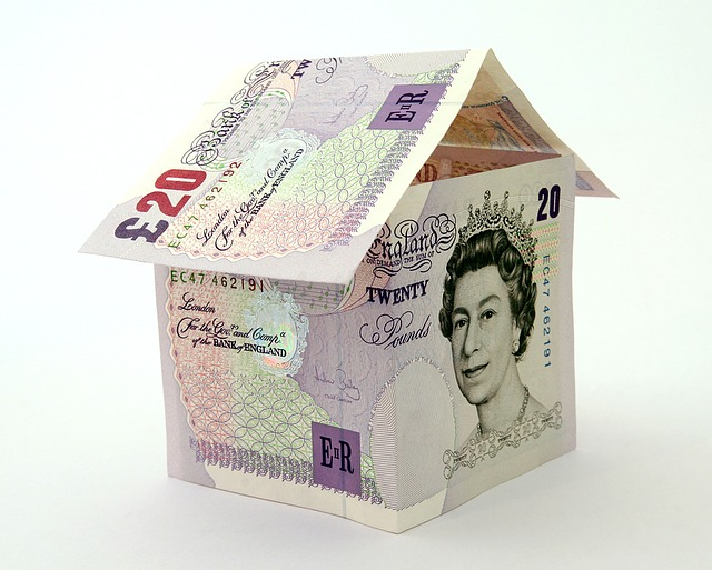 £20 notes folded into a house shape : Used by Where There's A Will Southport : Property Trusts