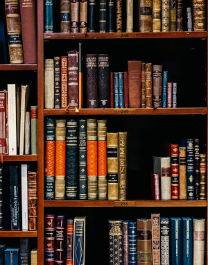 Bookshelf : Legal reference books. Where There's A Will, Southport, merseyside.