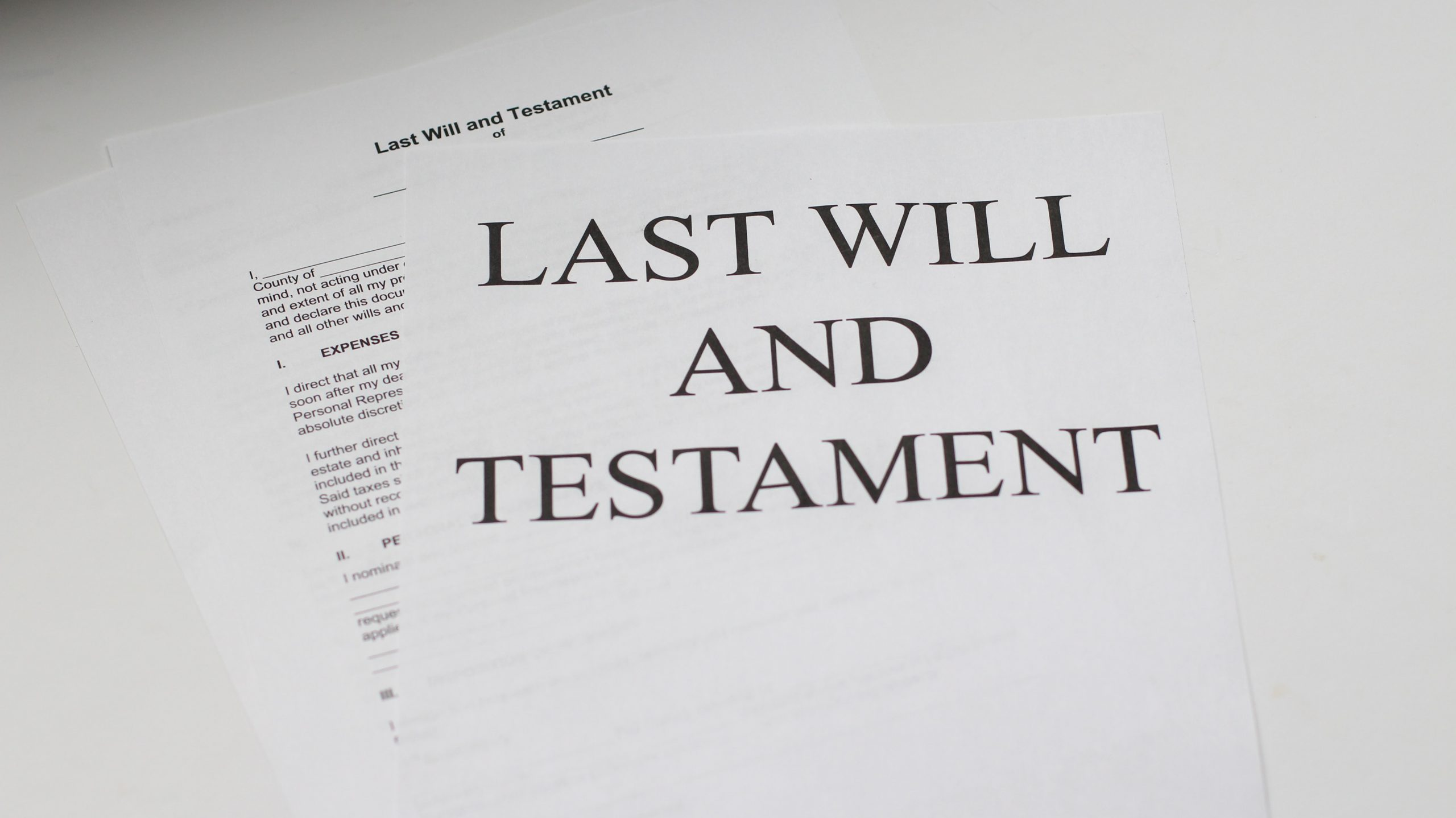Last Will & Testament Document : Where There's A Will Southport